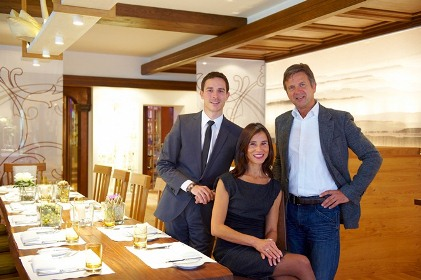 Familie im Restaurant
