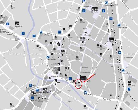 Landkarte mit Markierung klein