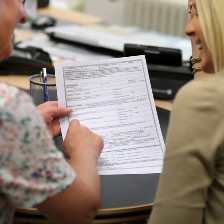 Erklärung eines Formulars im Bürgerbüro