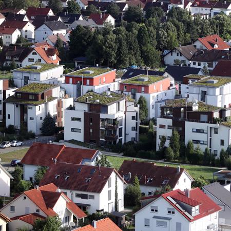 Blick auf Wohngebiet in Metzingen