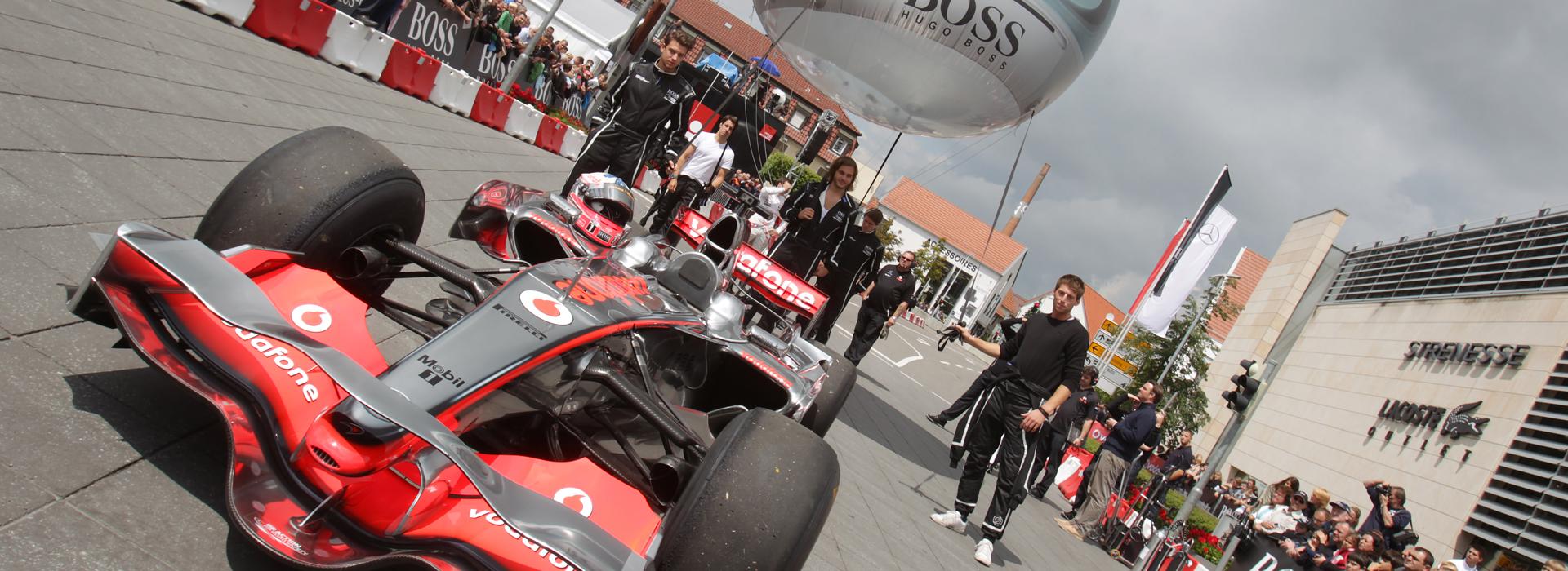 Lindenplatz in Metzingen: Formel 1 Show
