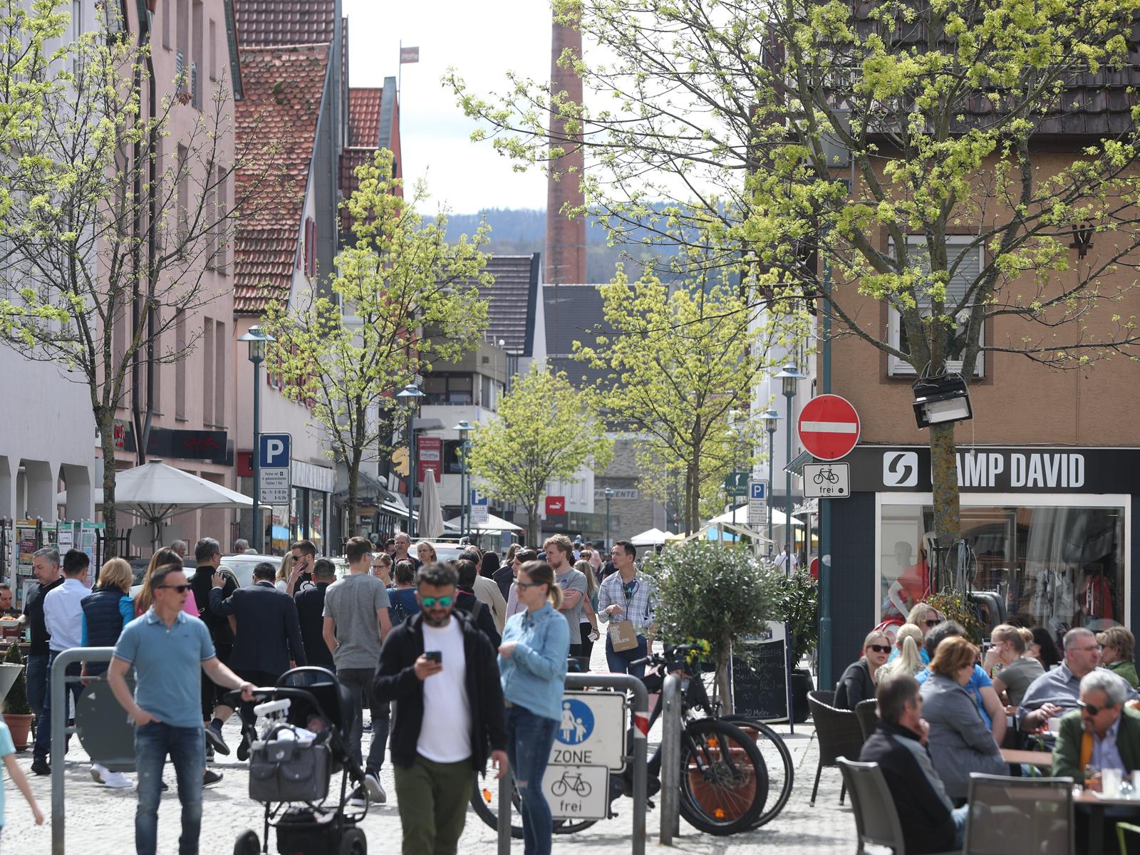 Shopping in der Metzinger Fußgängerzone