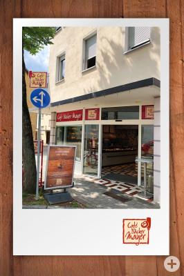 Außenansicht Cafe Bäcker Mayer Hindenburgstraße