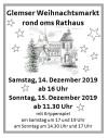 Anzeige Glemser Weihnachtsmarkt
