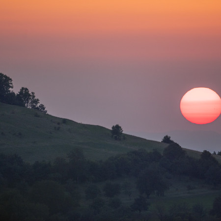 Sonnenuntergang über Metzingen