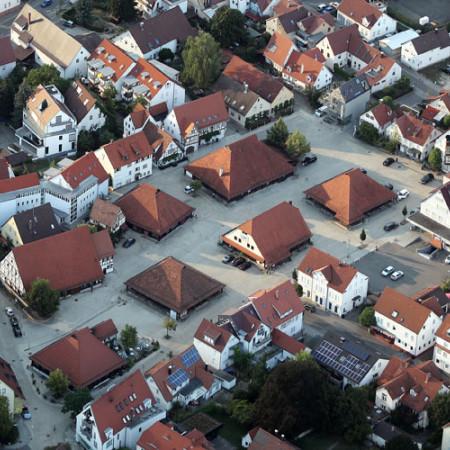 Kelternplatz Luftbild von oben