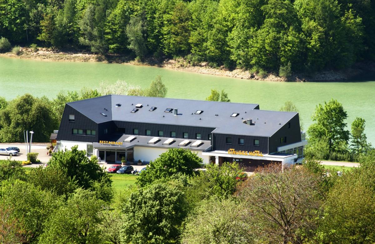 Ansicht Stausee-Hotel