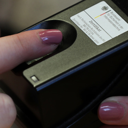 Fingerabdruck für den Personalausweis