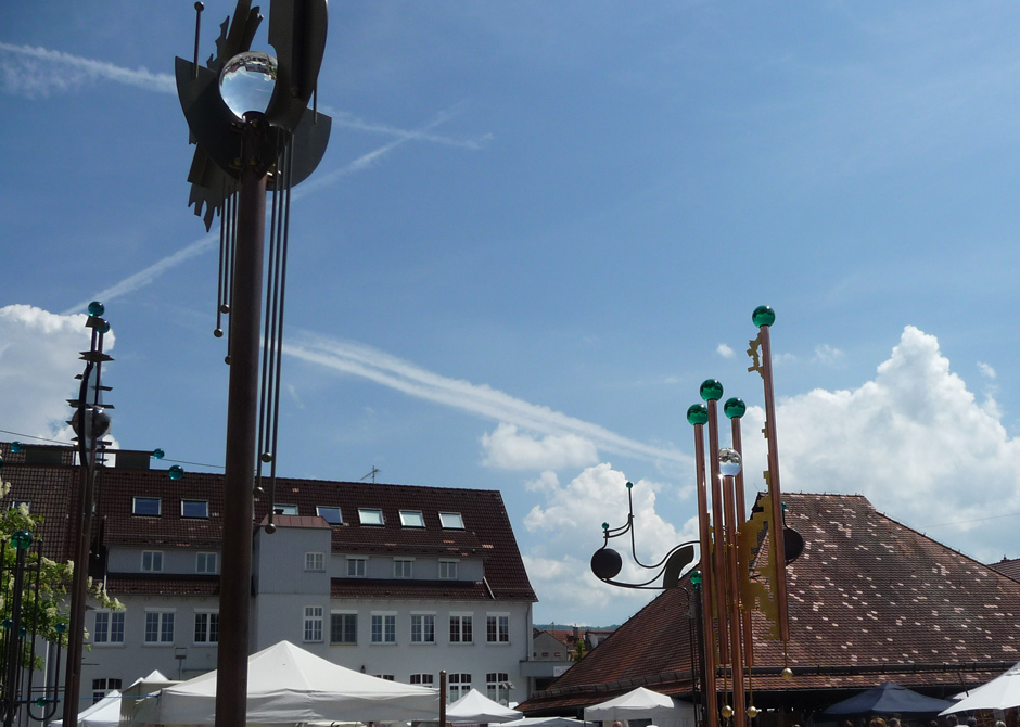 Auf dem Kelternplatz beim Kunstmarkt