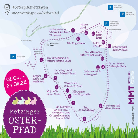 Osterpfad Wegeplan