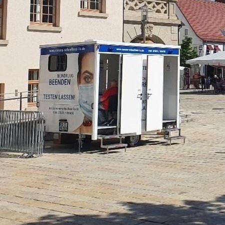 Schnellteststelle Rathaus Melanie