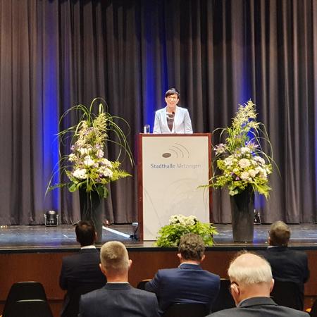 Oberbürgermeisterin Carmen Haberstroh bei ihrer Amtseinsetzung