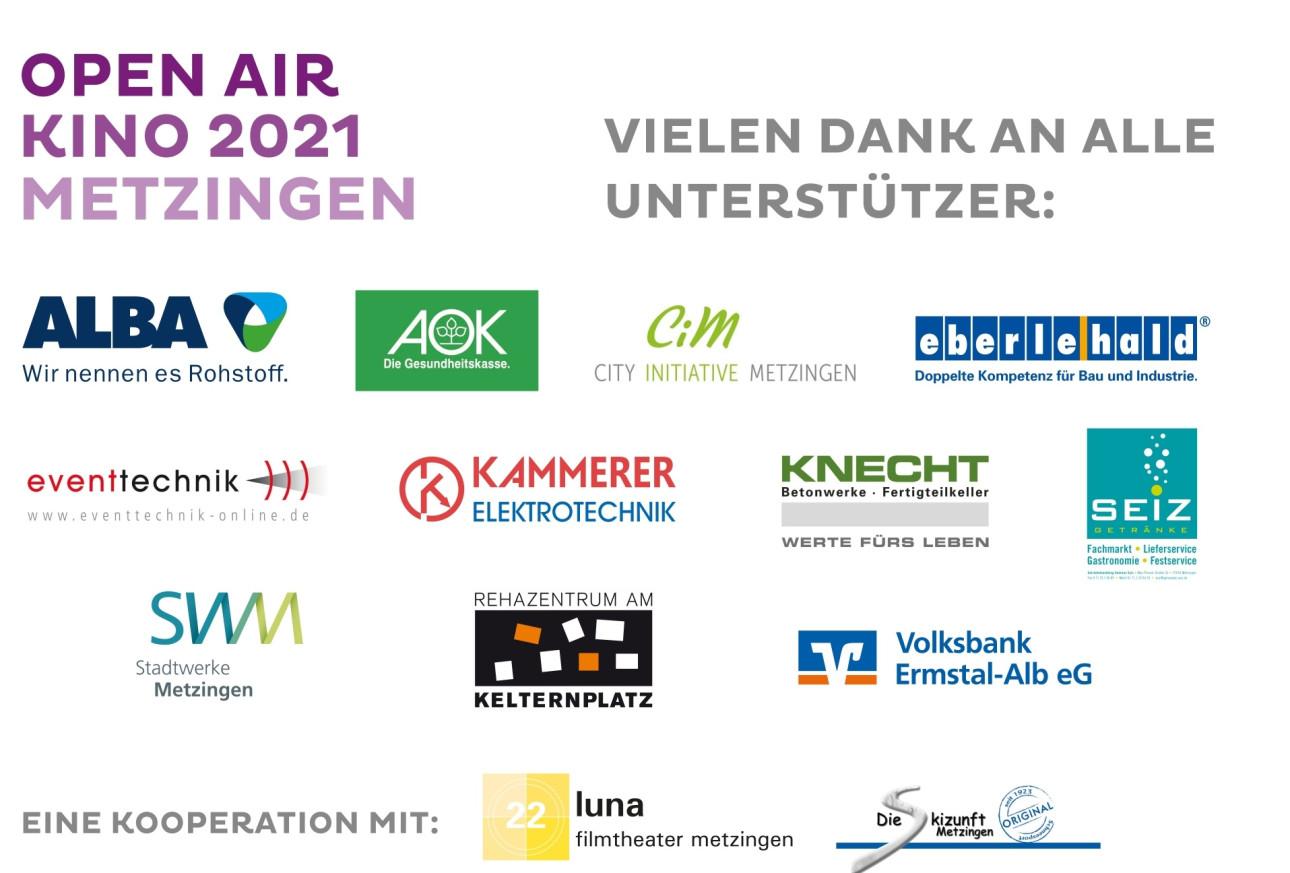 Open Air Kino 2021 Sponsoren
