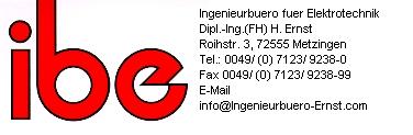 Logo mit Adresse und com Email